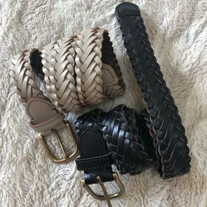 JCrew braided leather belts